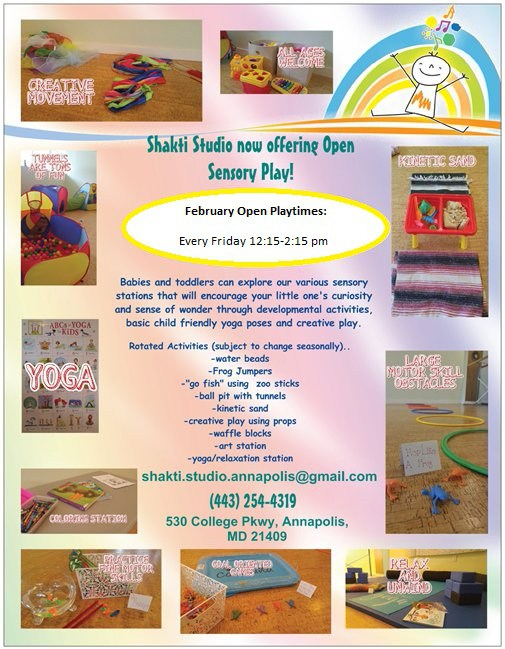 open sensory play flyer